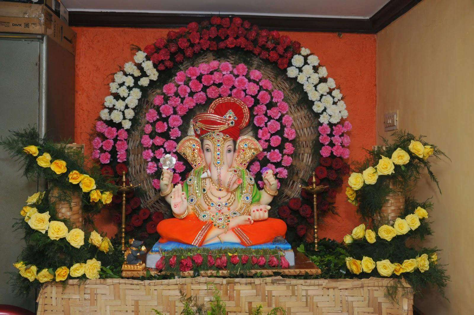 flower decoration for ganesh festival at home flowers healthy