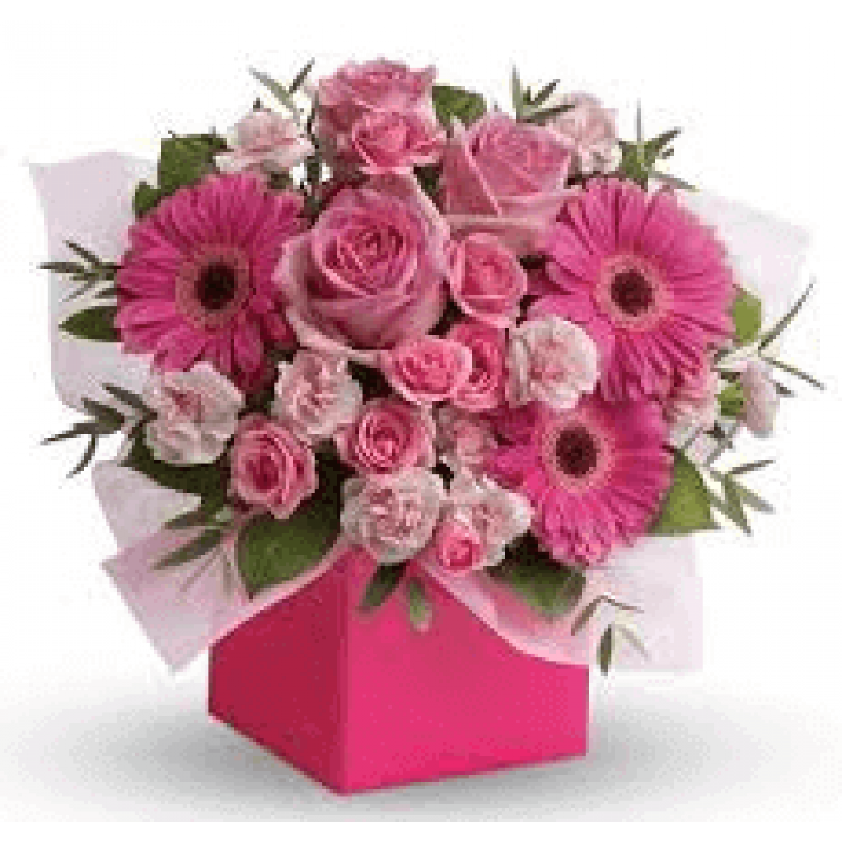 Buy Pink Flower Box Online In Pune Blooms Only