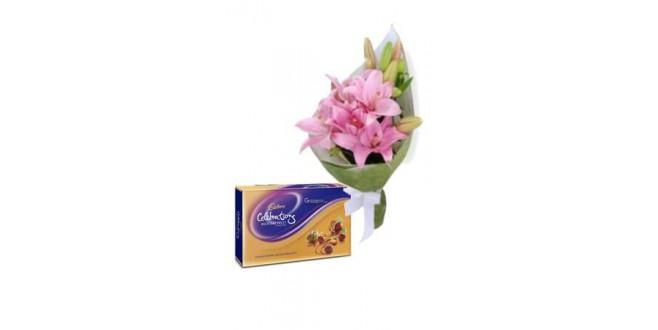 Diwali Celebration with Lilies