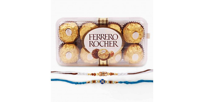 Rakhi With Rocher Combo