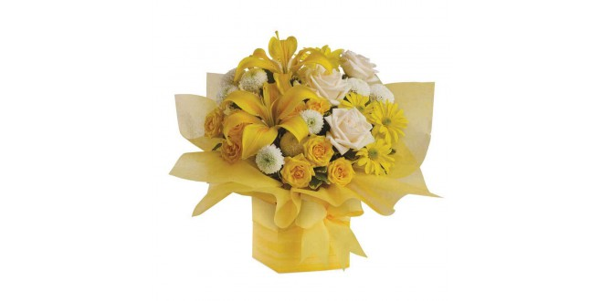 Mix Yellow Flower Arrangements