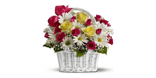 Roses with Basket