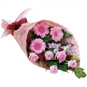 Pink Gerberas & Rose Bouquet