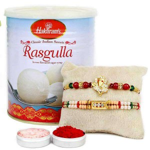 Rakhi With Rasgulla Combo