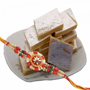 Rakhi And Kaju Barfi (500 gms) Combo