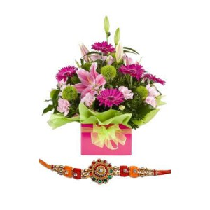 Royal Beauty Bouquet with Rakhi